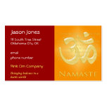 Om in Oranges & Gold - Namaste Double-Sided Standard Business Cards (Pack Of 100)