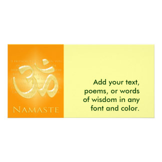 Om in Oranges & Gold - Namaste Card