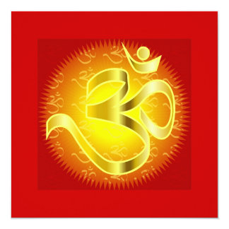 Om in Oranges & Gold - Namaste Card