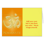 Om in Oranges & Gold - Namaste Greeting Card