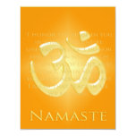 Om in Oranges & Gold - Namaste 4.25x5.5 Paper Invitation Card