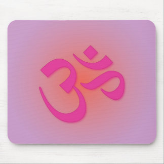 Om, in pink and orange mouse pad