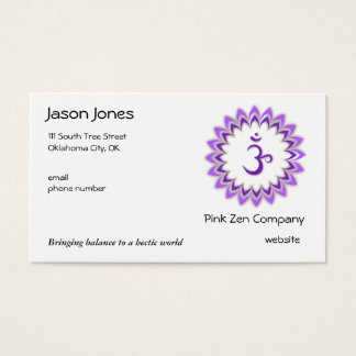Om, in Purple and White Business Card