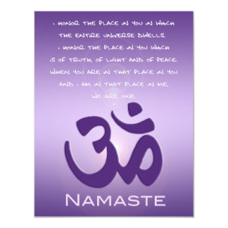 Om in Purples - Namaste Card