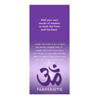 Om in Purples - Namaste Rack Card