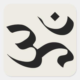 Om in Sanskrit Square Sticker