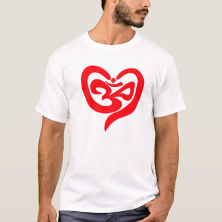Om  in the Heart T-Shirt