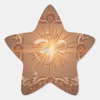 OM la muestra Pegatina En Forma De Estrella