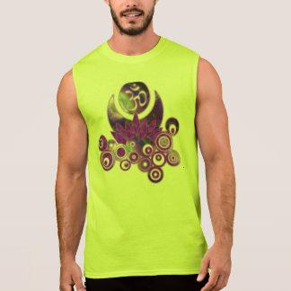 OM LOTUS Design violet Sleeveless T-shirt