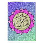 Om Lotus Mosaic Stationery Note Card