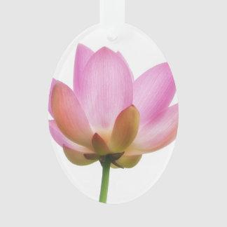 Om Lotus Pink Flower Petals Ornament