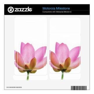 Om Lotus Pink Flower Petals Motorola Milestone Skins