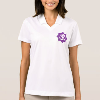 OM Lotus Symbol Spirituality Yoga Polo Shirt