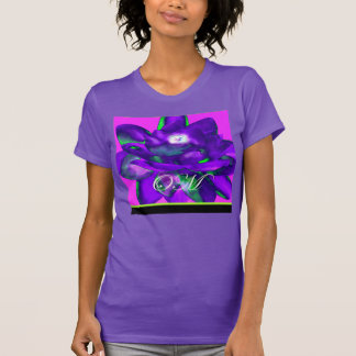 OM LOTUS VIOLET BLUE SPECTACULAR T SHIRT