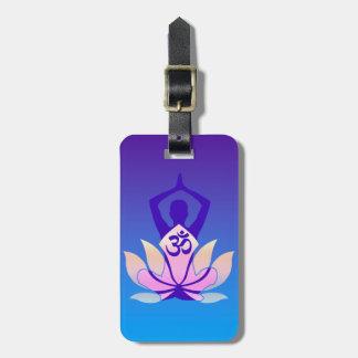 Om Lotus Yoga Pose Decor Bag Tag
