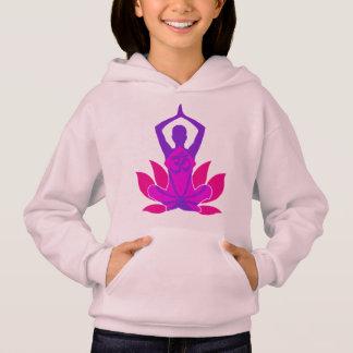 Om Lotus Yoga Pose Hoodie