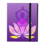 Om Lotus Yoga Pose iPad Folio Cases