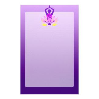 Om Lotus Yoga Pose Customized Stationery