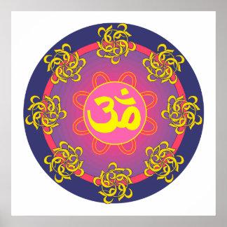 Om Mandala Art Print