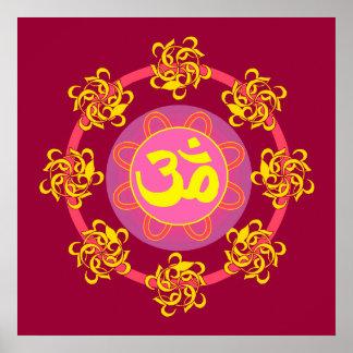Om Mandala Art Poster