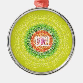 Om Mandala Design for Yoga Metal Ornament