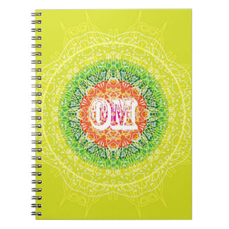 Om Mandala Design for Yoga Notebook