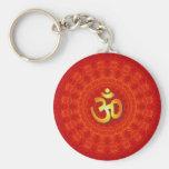 Om Mandala Design Keychain