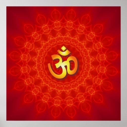 Om Mandala Design Posters