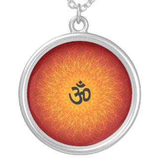 Om Mandala Round Pendant Necklace