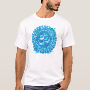 Om Mandala Vintaged watercolor Tshirt