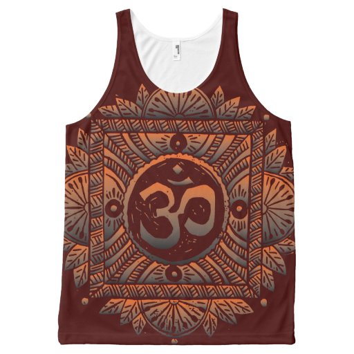 Om Mandna All-Over Print Tank Top