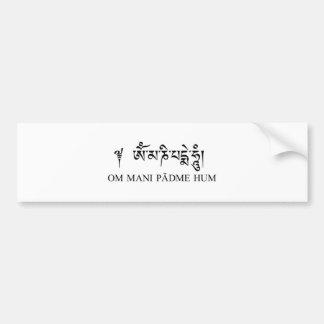 Om Mani Padme Hum Car Bumper Sticker