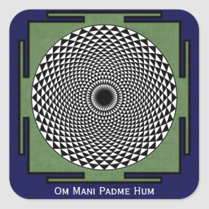 Om Mani Padme Hum chant Square Sticker