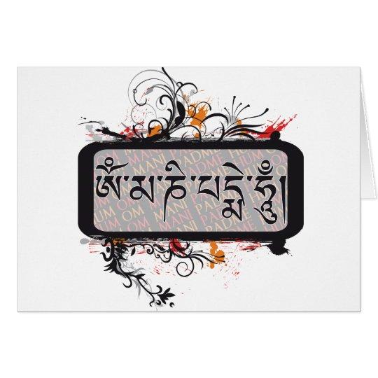 Om Mani Padme Hum Grubge Card