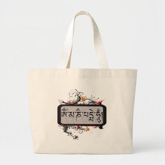 Om Mani Padme Hum Grubge Large Tote Bag