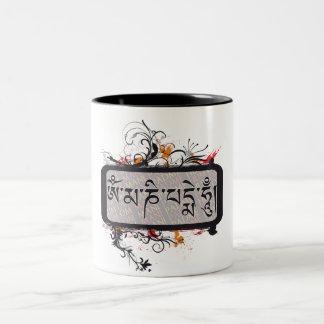 Om Mani Padme Hum Grubge Two-Tone Coffee Mug