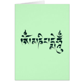 Om Mani Padme Hum III Greeting Card