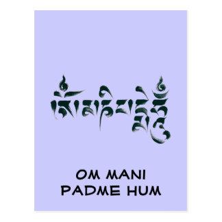 Om Mani Padme Hum III Postcards
