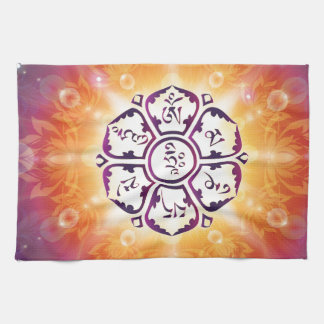 Om Mani Padme Hum Mantra Kitchen Towels