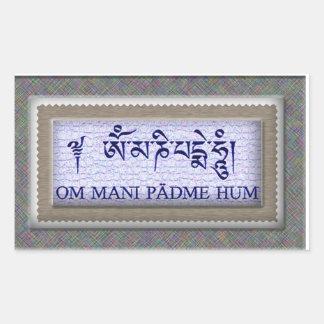 Om Mani Padme Hum Rectangular Sticker