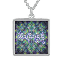 Om Mani Padme Hum Sterling Silver Necklace