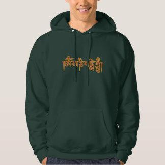 Om Mani Padme Hum Tibetan Script Buddhist Mantra Hooded Sweatshirt