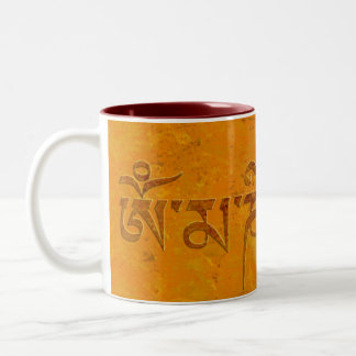 Om Mani Padme Hum Two-Tone Coffee Mug