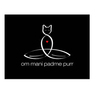 Om Mani Padme Purr - Regular style text. Post Card