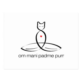 Om Mani Padme Purr - Regular style text. Postcard