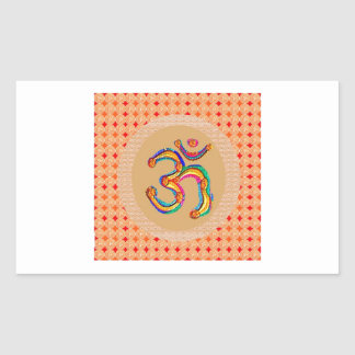 OM Mantra 108 - Chant Value is 56x365x108 x9 Rectangle Sticker