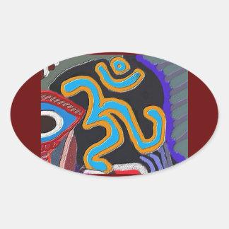 OM Mantra - 108 times Chanting n Meditation Oval Sticker