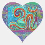 OM Mantra - 108 Times Heart Sticker