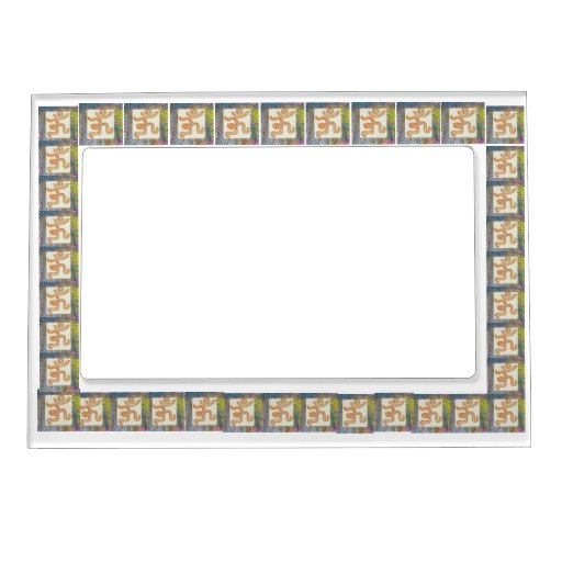 OM MANTRA - by Navin Joshi Picture Frame Magnet