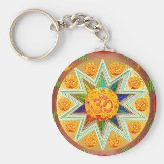 OM Mantra : CHANT Loud GAYATRI, in Heart SAVITRI Key Chain